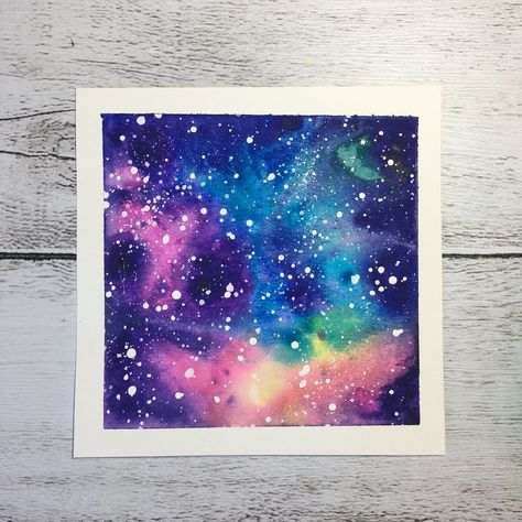 #square #galaxy #outofthisworldwatercolour @desertfoxillustrations