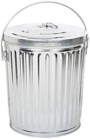 Witt Industries 10gpcl Galvanized Steel 10 Gallon Light Duty Waste Pail And Lid Round 16 Diameter X 1 Galvanized Steel Silver Storage Storage Bins With Lids