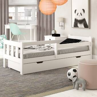Anabelle Convertible Toddler Bed With Sliding Drawer Bed With
