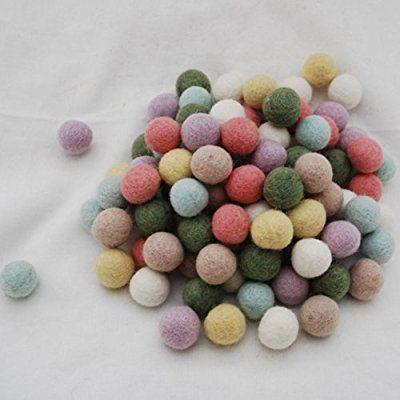 Choose Color Mix 2 cm 100/% wool Felt Balls Nursery Craft Beads Garland Making