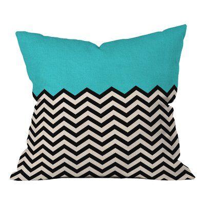 East Urban Home Indoor Outdoor Throw Pillow In 2021 Green Throw Pillows Throw Pillows Chevron Pillows
