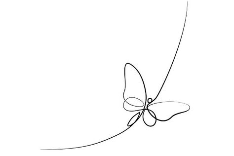 Continuous line butterfly ~ Illustrations ~ Creative Market