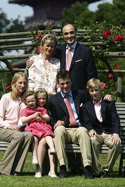 Prince Lorenz Of Belgium And Princess Astrid With Their Children In European Royalty Belgium Princess