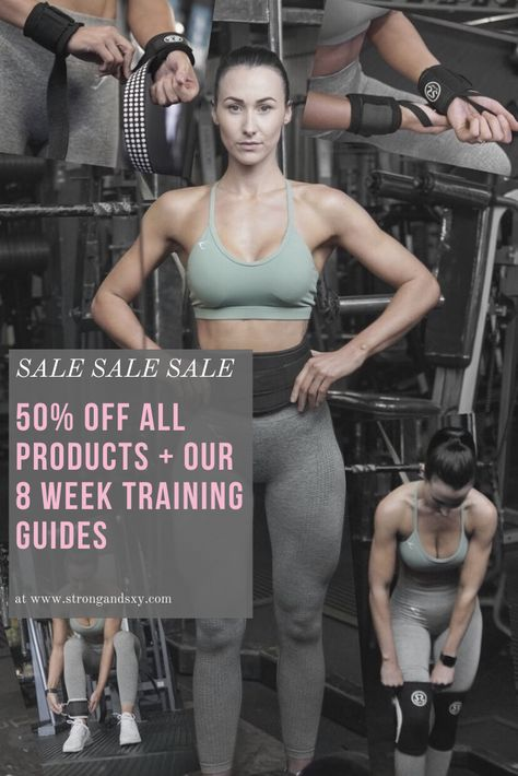 ▪️SALE SALE SALE▪️ 💪🏼 50% OFF all lifting products AND our 8 week training guides! Sale ENDS 6pm BST the 6th August Let's get #StrongandSxy 💪🏼💗 #SALE #workouts #training #gym #exercise #fitness