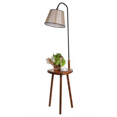 Lampa Podlogowa 8272 4 Orzech Wloski 1xe27 Bez Zarowki Opv 534lun2121 Side Table Decor Lamp