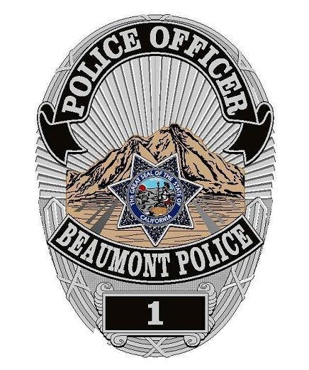 Beaumont Pd Calif Police Badge Police Badge