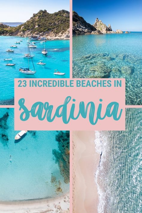 Sardinia, Italy, is an incredible summer destination. Read this post to find out which are the best beaches in Sardinia and why these are the top beaches in Sardinia and to get lots of Sardinia, Italy, travel tips Travel Destinations Beach, Italy Travel Tips, Ibiza Travel, Shopping Travel, Beach Travel, Destin Beach, Beach Trip, Best Beaches In Sardinia, Best Beaches In Europe