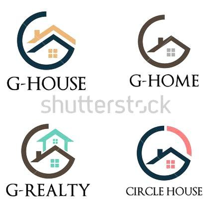 Circle G House Home Realty Logo Template In 2020 Circle House Realty Logo Logo Templates