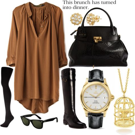*brown/black w gold accents