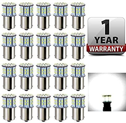 Amazon Com Antline 1156 1141 1003 7506 Ba15s Led Bulbs White 20 Packs Super Bright 3014 50 Smd Led Replacement F In 2020 Camper Trailers Rv Campers Interior Lighting