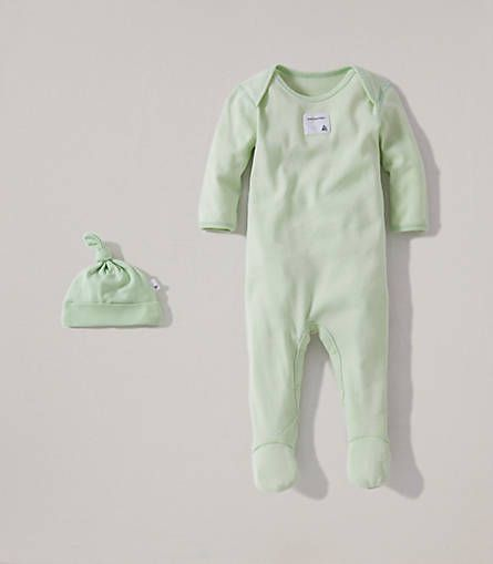 Bee Essential Footie Coverall Knot Top Hat Set Burts Bees Baby