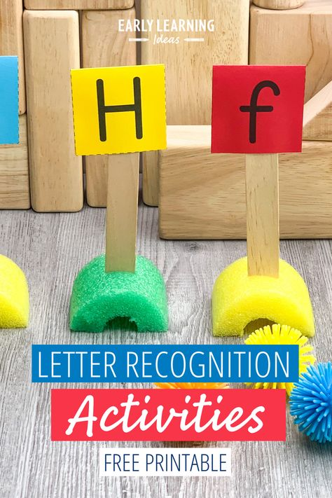 Letter Recognition Activities with FREE alphabet printable