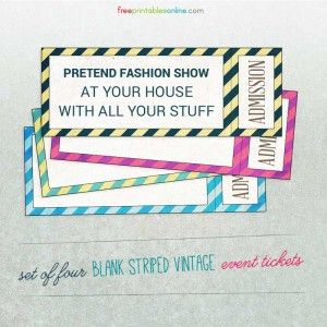 Make Your Own Tickets Template Pindorte Gregersen On Ideer Til Dusfest  Pinterest