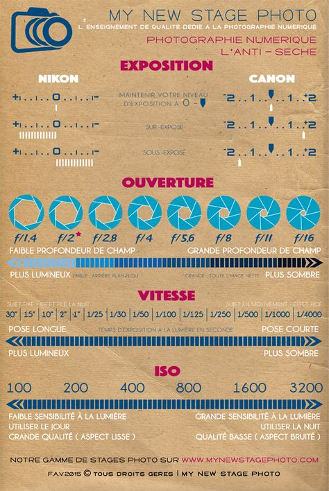 Infographie My New Stage Photo Nantes - Apprendre la photo simplement