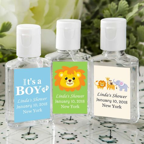 Hand Sanitizer Baby Boy Shower Favors Personalized Free Assembly