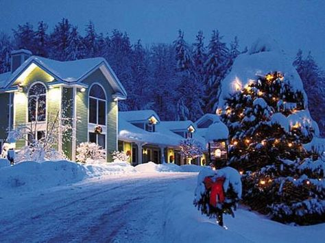 Christmas In Vermont.Stowe Vermont In The Winter Where White Christmas Was