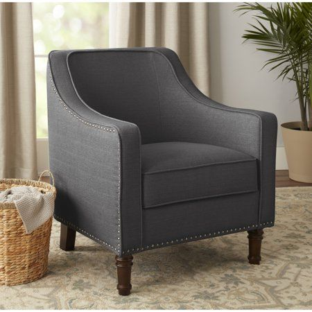 bc0346621409d3e6859404c182f0c46f - Better Homes And Gardens Rolled Arm Accent Chair Gray
