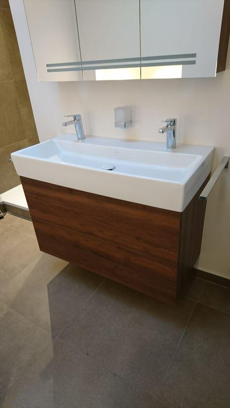 Waschtisch Unterschrank auf Mass, Keramik Villeroy  Boch Memento - badezimmer waschbecken mit unterschrank