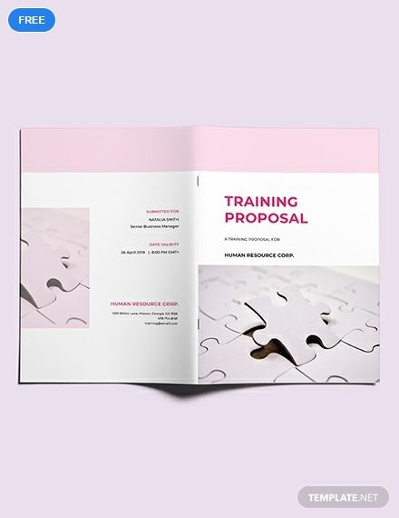 Free Training Proposal Proposal Templates Free Training Letter
