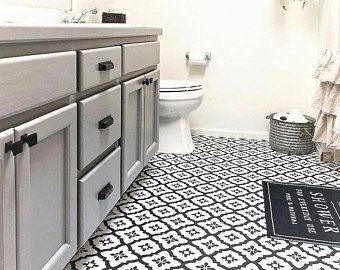 Tile Sticker Kitchen Bath Floor Wall Waterproof Removable Etsy In 2020 Peel And Stick Floor Stick On Tiles Tile Floor
