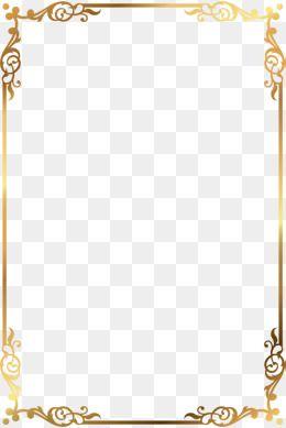 Moldura Png Images Vetores E Arquivos Psd Download Gratis Em Pngtree Page Borders Design Gold Text Gold Pattern