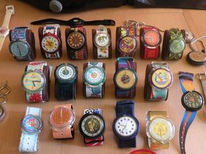 My collection of Swatch Watches.
