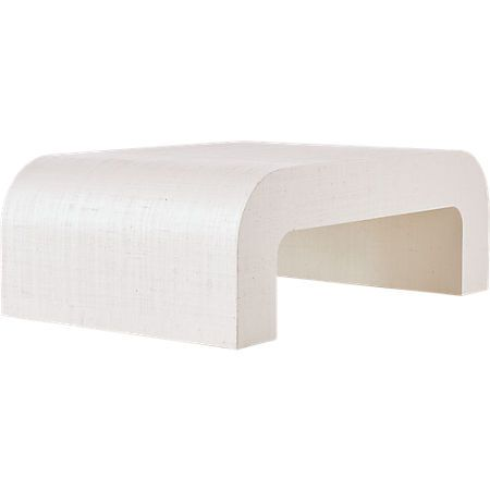 Horseshoe Ivory Lacquered Linen Coffee Table Reviews Coffee