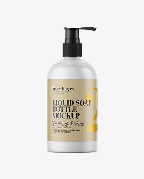 Frosted Clear Bottle With Liquid Soap Mockup In Bottle Mockups On Yellow Images Object Mockups Mockup Free Psd Mockup Psd Mockup Free Download