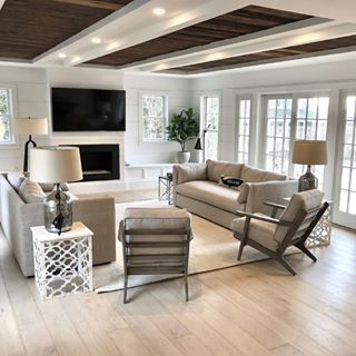 Light Sandy Wood Floors Neutral Living Room Living Room Decor