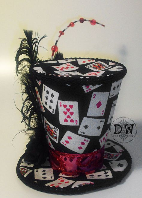 Vegas negro rojo Lady Poker suerte Mini por DawnetteWalters en Etsy