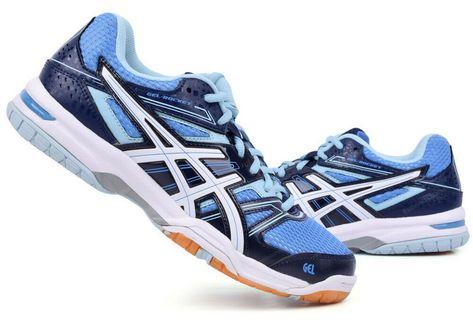 Asics Mens Gel-Beyond 4 MT Indoor Court Shoes Blue Sports Badminton Handball