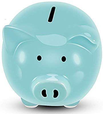 Koicaxy Piggy Bank Child To Cherish Ceramic Pig Money Piggy Banks For Boys Girls Kids Blue Piggy Bank Ceramics Kids Girls