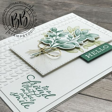Leaf Cards, Free Cards, Hand Stamped Cards, Stamping Up Cards, Unique Cards, Cards For Friends, Heartfelt Creations, Card Kit, Homemade Cards