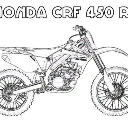 Motorcross Honda Crf Coloring Page Coloring Pages Color Bike Art
