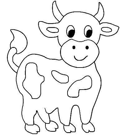 Inek Boyama Sayfasi Cow Coloring Pages Free Printable