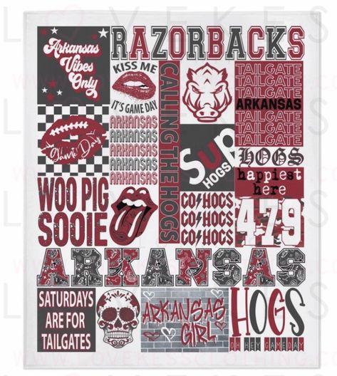 University of Arkansas College Spirit Blanket by LoveKess Clothing