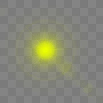 Lens flare yellow color. Hd effect abstract