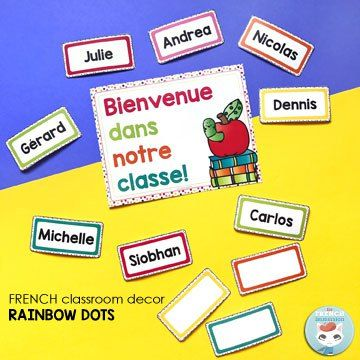 French Classroom Decor Rainbow Dots With Images French