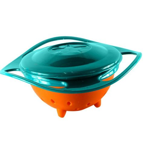 No Spill Baby Gyro Bowl 360 Degree Rotation Spill Resistant Unspillable Bowl