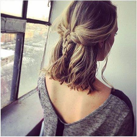 40 Most Cute Hairstyle For Medium Length Hair For Fall 2018 Zopf Kurze Haare Frisuren Geflochtene Frisuren