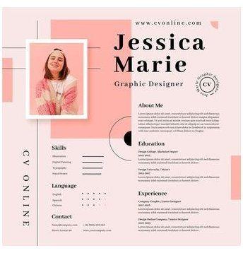 Download Online Cv Template With Photo For Free Cv Template Design Cvtemplatedesign Discover Thousands Of Free Copyright Cv Kreatif Desain Cv Desain Resume