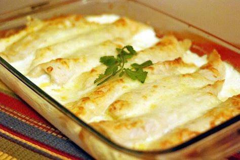 Carmalized onions and Cream Cheese Enchiladas