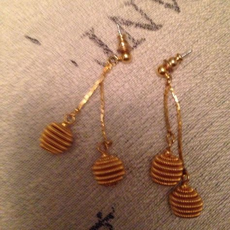 Vintage Gold Ball Earrings