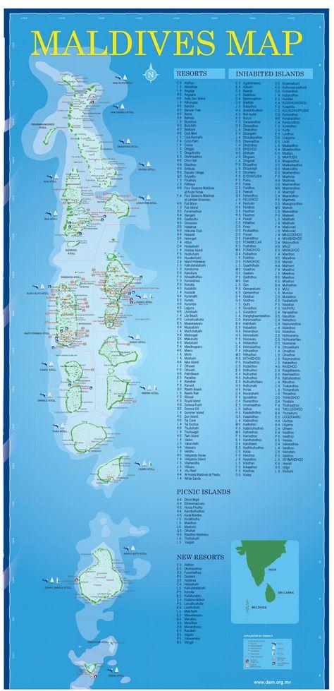 Maldiverne Geographical Kort Over Maldiverne Maldiverne