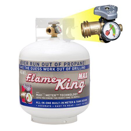 20 Lb Propane Cylinder With Type 1 Overfill Protection Device Valve And Built In Gauge Ships Empty Walmart Com In 2020 Propane Cylinder Propane Fire Pit Table Propane Tank