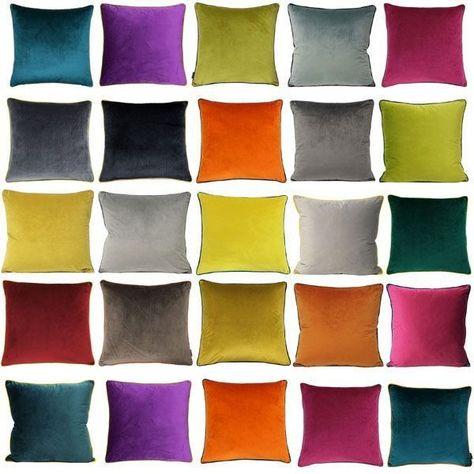 Paoletti Meridian Velvet Cushion Cover 55 X 55 Cm In 2020