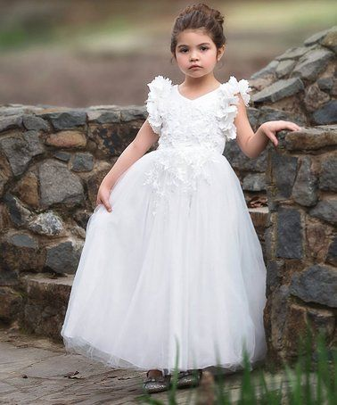 Look What I Found On Zulily White Ruffle Bianca Gown Infant Toddler Girls Zulilyfinds Toddler Wedding Dress Flower Girl Dresses Toddler Girl