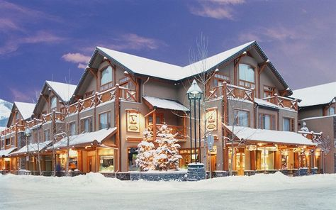 Brewster's Mountain Lodge offers 77 elegant guest rooms high in the Rocky mountains.