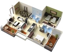 Captivating 3D Floor Plans, 3D House Design, 3D House Plan, Customized 3D Home Design,  3D House Map | PLAN MAISON | Pinterest | 3d House Plans, 3d And Apartments