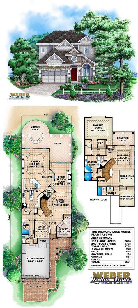 Craftsman House Plan Narrow Lot California Bungalow Style Floor Plan Lake House Plans Unique House Plans Beach House Plans